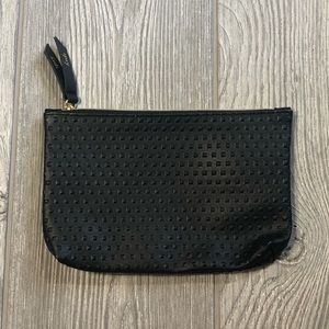 Black hobnail Ipsy cosmetic makeup bag